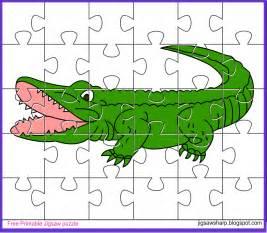 free printable jigsaw puzzle alligator jigsaw puzzle