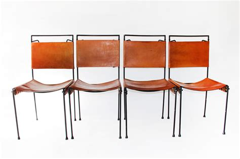 iron and leather dining chairs