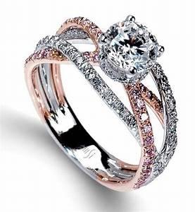 silver jewelry diamond rings wedding promise diamond With rose gold and silver wedding rings