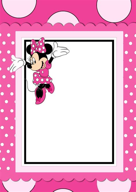 Minnie Mouse Template Invitation by Free Printable Minnie Mouse Invitation Card Weekly Menu