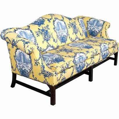 Chippendale Sofa Camelback Down Upholstery Cushion Couch