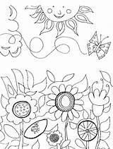 Coloring Pages Flower Gardening Flowers Paisagem Garden Printable Adult Primavera Sun Sheets Nature Easter Princetonol Drawing Works Print Manual Adults sketch template