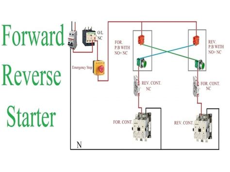 Reversing Motor Starter Wiring Diagram Forums