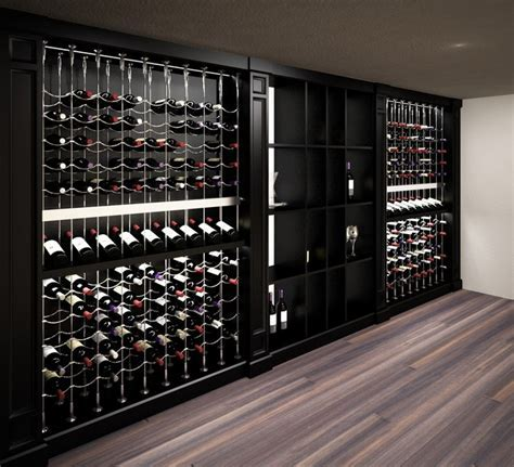 Custom Wine Cellar featuring the Cable Wine System