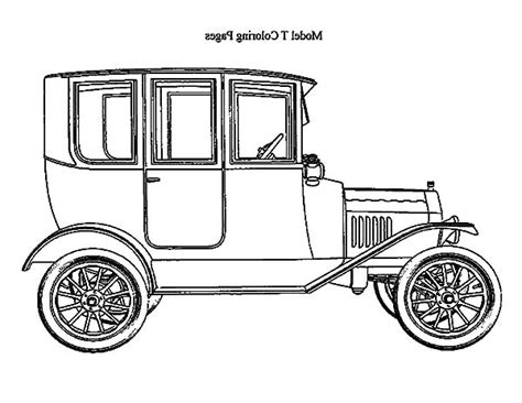 Ford Kleurplaat by Model T Ford Coloring Page Coloring Pages