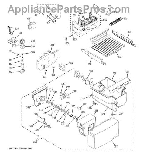 parts  ge gsljgccls ice maker dispenser parts appliancepartsproscom