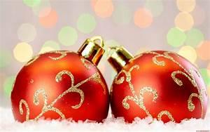 Sfondi Natale Sfondo Palline Di Natale Rosse