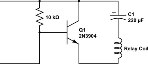 Transistors Mystery Circuit Latching Relay Control With
