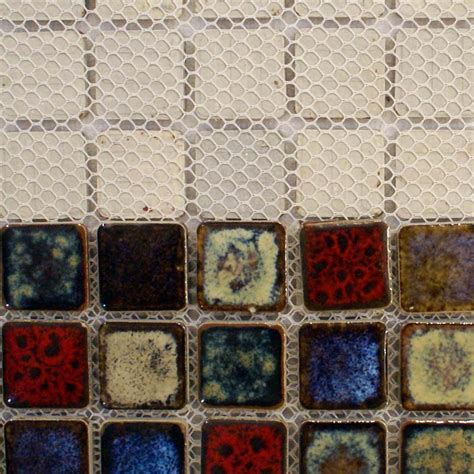 "Italian Porcelain Tiles Square 1"" Mosaic Tile Colorful"