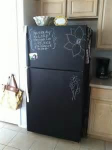 painted kitchen furniture diy chalkboard painting a fridge