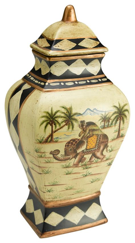 Tropical Vases by Elephant Vase With Lid Tropical Vases By Orchard