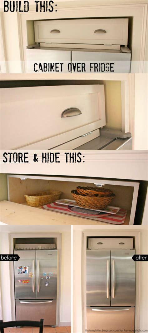 remodelaholic build  cabinet   fridge