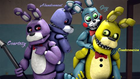 Original, Unwithered, Toy Bonnie And Springbonnie By