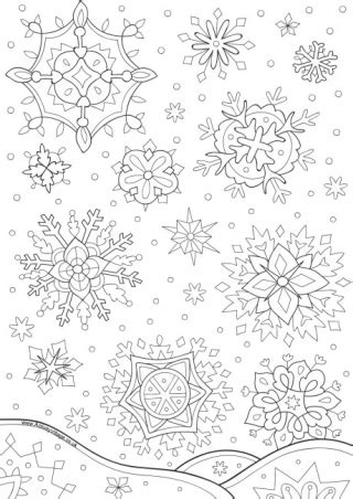 snowflake colouring page