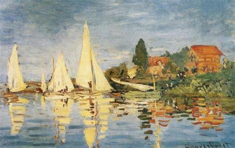 claude monet sailboats  argenteuil art print