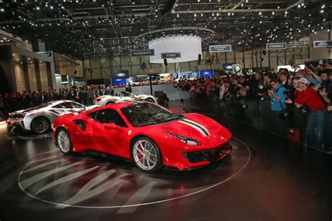 Ferrari Unveils The Ferrari 488 Pista At The Geneva Motor