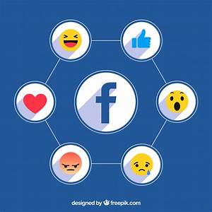 Facebook icons background with flat design Vector | Free ...