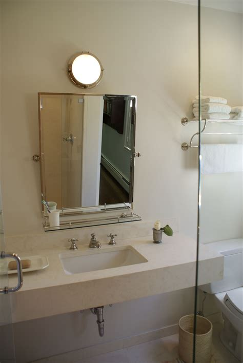 mirror above kitchen sink floating mitered slab vanity or two individual mirrors 7528