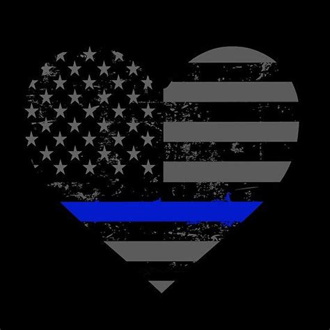 police  law enforcement thin blue  heart valentines