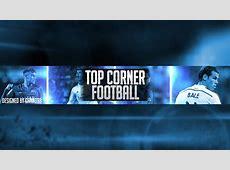 Top Corner Football Banner+Icon Speed Art YouTube