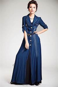 Trendy Denim Long Maxi Dress Fashion for Ladies u2013 Designers Outfits Collection