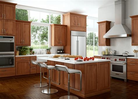 Dark Cherry Color Kitchen Cabinets And Isles  Home Design