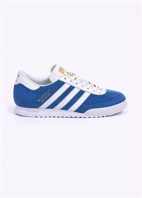 adidas originals beckenbauer trainers blue