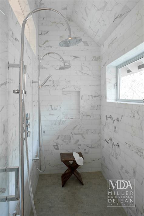 His And Shower by Walk In Shower Design Ideas