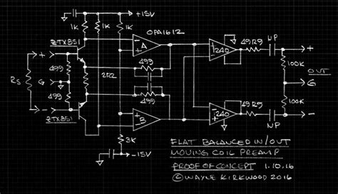 Low Noise Balanced Input Moving Coil Preamp Using The