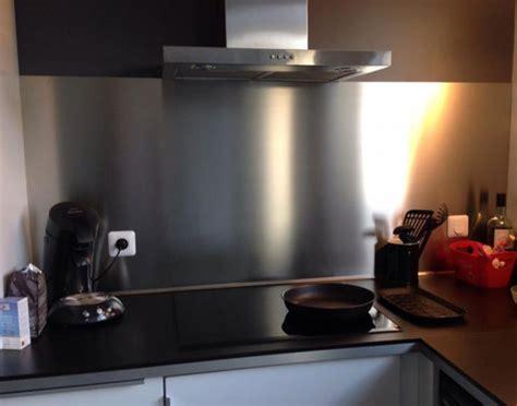 tole inox pour cuisine plakinox photos crédences inox réalisation de