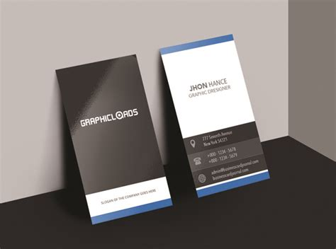 vertical business card template 18 business card templates graphicloads