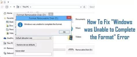 When using windows explorer to format the sd card, sometimes we may encounter an error, windows was unable to complete format sd card. When I tried to format my SD card, it says Windows was unable to format. How do I fix it? - Quora