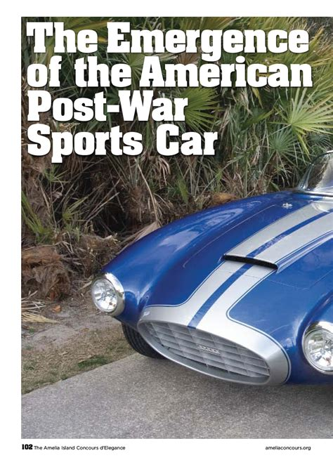 emergence   american postwar sports car