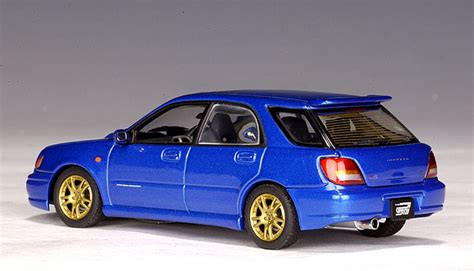 subaru autoart autoart 2001 subaru new age impreza wrx wagon sti blue