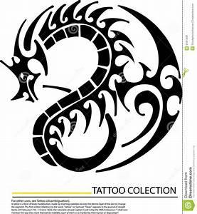 Black Dragon On White Background Stock Illustration ...