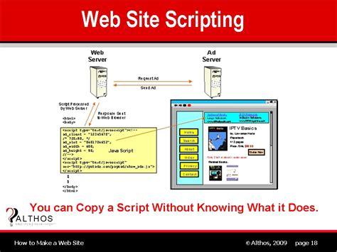 web site design web site scripting