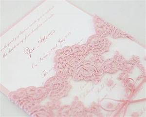 love the lace weddings pinterest pink wedding With wedding invitations with lace overlay