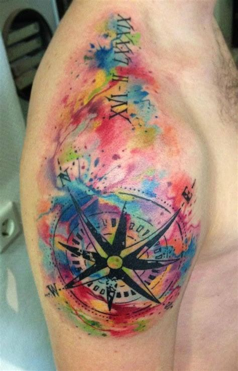 color tattos 30 stunning compass designs entertainmentmesh