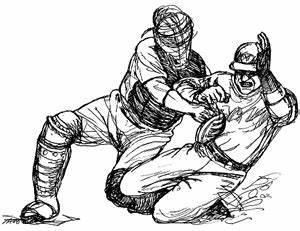 How to draw baseball catcher