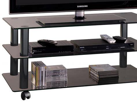 porta tv cristallo carrello porta tv in cristallo nero 90 cm york