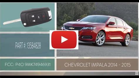 replace chevrolet impala key fob battery