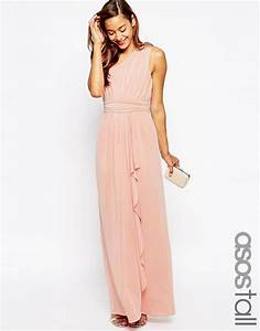 image 1 of asos tall wedding one shoulder sexy slinky maxi With tall dresses for wedding guest