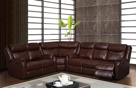 Motion Sofas And Sectionals by U9303 Motion Sectional Sofa In Brown Bonded Leather By Global
