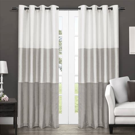 rugs curtains white and gray blackout curtains for