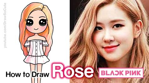 How To Draw Rose Blackpink Kpop Youtube