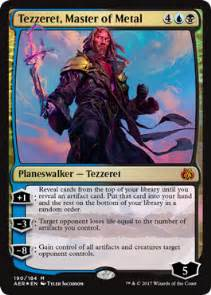 tezzeret master of metal from aether revolt spoiler