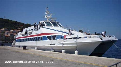 Ferry Catamaran Dubrovnik Mljet by Ferry Catamaran Dubrovnik šipan Mljet Korcula