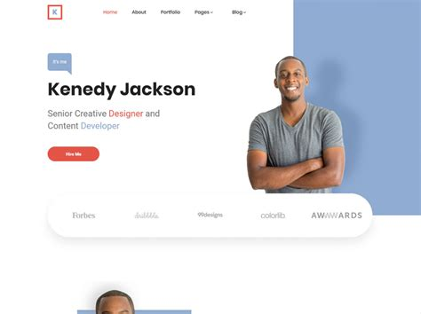 Responsive team profiles with social links free for bootstrap. Free Simple Personal Website HTML Template - DesignHooks