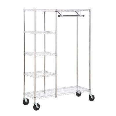 honey can do heavy duty steel rolling closet rack in