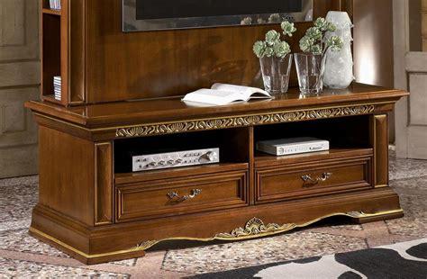 classic tv stand  carved wood gold leaf finish idfdesign